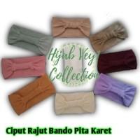 (COD) Ciput Bandana Rajut Bando Pita Karet Belakang Warna ( Bando Pita