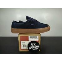 Sepatu Vans Authentic Dress Navy Blue Biru Dongker Sole Gum DT BNIB