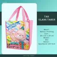 Goodie Bag Spunbond/ Tas Ulang Tahun Jahit 26 x 22 Animal Kelinci