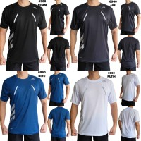 Kaos Olahraga Pria 6960 Baju Training Fitness Gym Lari Running Cowok