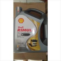 Oli Mesin Shell Helix Rimula R4X R4 15W-40 5 Liter Galon Diesel Asli