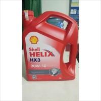 Oli Mesin Mobil Shell Helix HX3 20W-50 4 Liter Galon Original Barcode