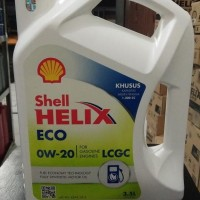 Oli Mesin Shell Helix ECO 0W-20 3,5 Liter Galon Asli Scan Barcode