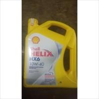 Oli Mesin Mobil Shell Helix HX6 10W-40 SN Plus 4 Liter Scan Barcode