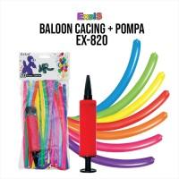 Balon / 50pcs Balon cacing+pompa / Balon cacing panjang EX820