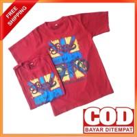 Kaos anak laki laki Perempuan Umur 7-12 tahun Baju Anak Premium - MAROON, 10 (9-10 thn)