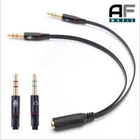 Splitter Audio Jack 3.5mm Female Dual 3.5 AUX Male (Mic+Hear) Taffware