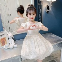 Baju Dress anak perempuan gaun pesta princess cewek lengan pendek