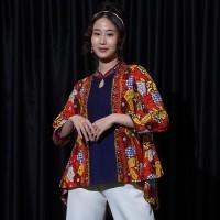 NONA RARA - Maura Permen T0881, Baju atasan kerja blouse batik wanita