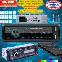Head unit Tape Audio Mobil tip single din Touch Screen mp3 Bluetooth - Hitam