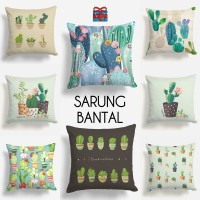 COVER SARUNG Bantal Sofa 40x40 cm Motif Kaktus Cactus Cacti