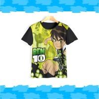 Baju ben 10   Kaos ben 10   Kaos anak laki laki v1 - 7-8 TAHUN