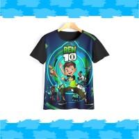 Baju ben 10   Kaos ben 10   Kaos anak laki laki v2 - 5-6 tahun