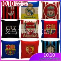 TERBARU Sarung Bantal Sofa Desain Football Fan Liverpool Barcelona Cr