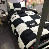 New Bed Cover Warna Hitam Putih Kotakkotak Ukuran 1.51.8 m Model