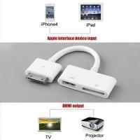 TOP Kabel Adapter Converter 30pin Ke Hdmi Tv Av Untuk Apple Ipad 2 3