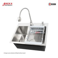 Kitchen Sink BOLZANO 5040 Cannes Stainles / Bak Cucian Piring 1 Lubang