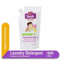 Sleek Baby Laundry Detergent Liquid Pouch 900ml - Deterjen Bayi Cair