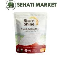 RICE N SHINE ORGANIC RED RICE FLOUR TEPUNG BERAS MERAH ORGANIK 250 g