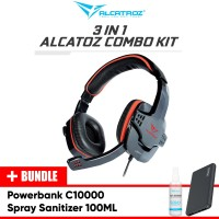 Alcatroz 3 in 1 Combo Kit Headset Gaming Bundle Tzla slim c1000
