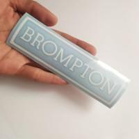 BROMPTON CUTTING STIKER AKSESORIES SEPEDA LIPAT STIKER SEPEDA STIKER - Putih
