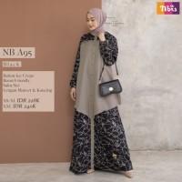 Baju Gamis Muslim Wanita Premium Dewasa Syari Nibras NB A95