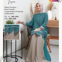 Baju Gamis Muslim Wanita Premium Dewasa Syari Nibras NB A58