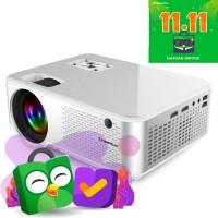 CHEERLUX C9 Dual HDMI TV Tuner - Mini LED Projector 2800 Lumens 1080p