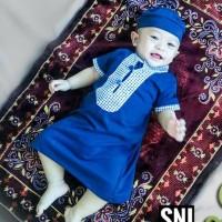 Baju koko gamis bayi laki-laki newborn/jubah bayi/free peci