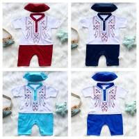 Baju koko jumper 0-6 bulan newborn bayi anak aqiqah balita koko jumper - Merah