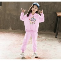 Setelan Sweater Hoodie Anak Perempuan Cewek BTS 21 | Stelan Baju Anak