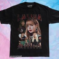 Kaos Lisa Blackpink Lalisa Manoban Vintage Bootleg Kpop T Shirt