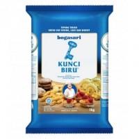 Kunci Biru 1 Kg Tepung Terigu Protein Rendah Bogasari