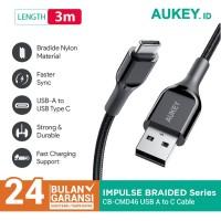 Aukey Kabel CB-CMD46 USB-C 3M Braided Nylon - 500692
