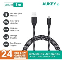 Aukey Cable 1.2M Micro High Performance Braided black - 500227