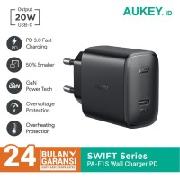 Aukey Wall Charger PA-F1S 20W Ultra Compact with PD 3.0 - 500723