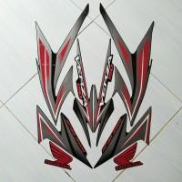 sticker motor honda verza 150 2014 full hitam-merah