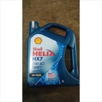 Oli Mesin Mobil Shell Helix HX7 5W-40 SN Plus 4 Liter Scan Barcode