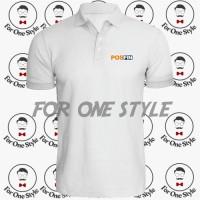 POLO SHIRT POSFIN - poloshirt baju Kaos POS FIN - Pos Indonesia - BIRU TUA, XXL
