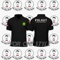 Kaos Polo POLHUT (Polisi Kehutanan) - POLOSHIRT POLHUT - Merah, XL