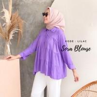 Sora atasan blouse wanita bahan spandex size fit XL