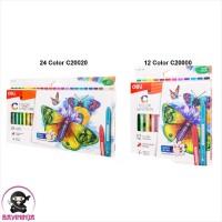 DELI Triangle Plastic Crayon Pastel Bright Color Hands Clean