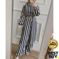 Gamis Rayon Ayline Stripe Atasan Tunik Premium