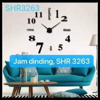 JAM DINDING DIY RAKSASA 3D GIANT DIAMETER 70-130 cm