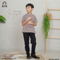 Gamis Baju Couple Sarimbit Keluarga Dewasa Ayah Ibu Anak Choco ARRA - KOKO ANAK, XL