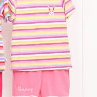( 4 -10 Tahun ) baju setelan KAOS BABYTERRY anak perempuan RAINBOW SB