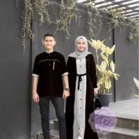 Baju Couple Pasangan Kemeja Gamis Kancing Busui Sarimbit Casual Pesta