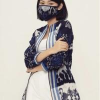 Manija Lurik T0634,Baju atasan blouse batik wanita modern Nonarara - XL