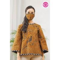 Septa Sogan T0520,Baju atasan blouse batik wanita modern nona rara