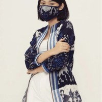 Manija Lurik T0634,Baju atasan blouse batik wanita modern Nonarara
